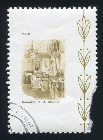 gorki: RUSSIA - CIRCA 1970: stamp printed by Russia, shows Lenins room in Gorki, circa 1970