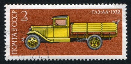 RUSSIA - CIRCA 1974: stamp printed by Russia, shows GAZ AA truck, 1932, circa 1974