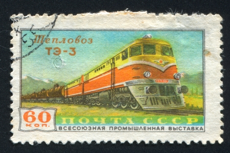 RUSSIA - CIRCA 1958: stamp printed by Russia, shows Diesel Locomotive, circa 1958