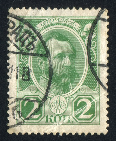 RUSSIA - CIRCA 1913: stamp printed by Russia, shows King Alexander II, circa 1913 Stock Photo - 18832594