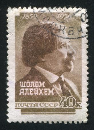 shalom: RUSSIA - CIRCA 1959: stamp printed by Russia, shows Shalom Aleichem, circa 1959
