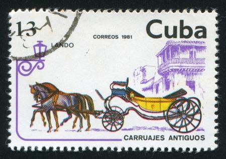 window seal: CUBA - CIRCA 1981: stamp printed by Cuba, shows Lando, circa 1981