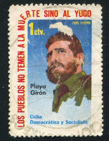 CUBA - CIRCA 1962: stamp printed by Cuba, shows Fidel Castro, circa 1962 Stock Photo - 19711590