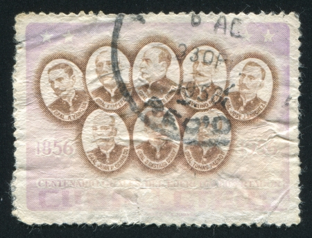 liberation: CUBA - CIRCA 1957: stamp printed by Cuba, shows Generals of the liberation, circa 1957