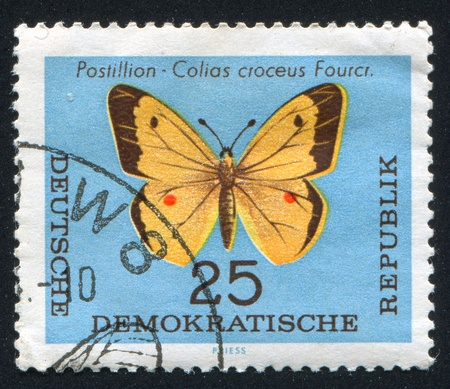 hindwing: GERMANY - CIRCA 1963: stamp printed by Germany, shows Postilion, circa 1963 Editorial