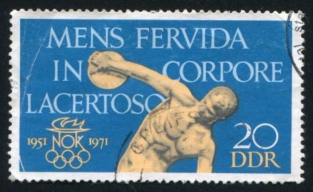 GERMANY - CIRCA 1971: stamp printed by Germany, shows Discobolus, circa 1971
