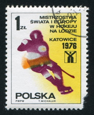 POLAND - CIRCA 1976: stamp printed by Poland, shows Ice Hockey, circa 1976