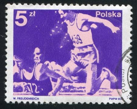 steeplechase: POLAND - CIRCA 1983: stamp printed by Poland, shows Steeplechase, circa 1983
