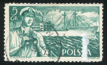 POLAND - CIRCA 1956: stamp printed by Poland, shows Captain, circa 1956