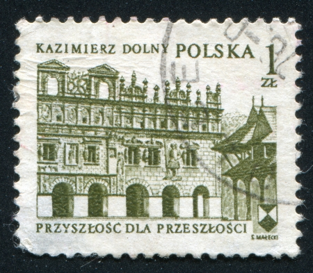 POLAND - CIRCA 1975: stamp printed by Poland, shows Arcades, Kazimierz Dolny, circa 1975