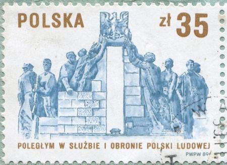 militia: POLAND - CIRCA 1989: stamp printed by Poland, shows Security Service and Militia, circa 1989