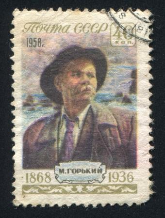 gorki: RUSSIA - CIRCA 1958: stamp printed by Russia, shows Maxim Gorki, circa 1958 Editorial