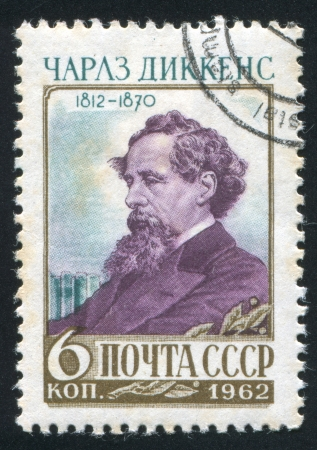 RUSSIA - CIRCA 1962: stamp printed by Russia, shows Charles Dickens, circa 1962