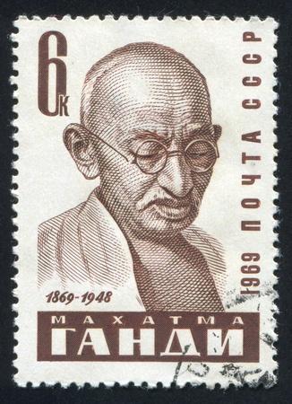 RUSSIA - CIRCA 1969: stamp printed by Russia, shows Mahatma Gandhi, circa 1969