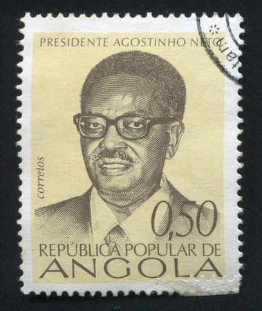 ANGOLA - CIRCA 1976: stamp printed by Angola, shows Agostinho Neto, circa 1976 Stock Photo - 20527602
