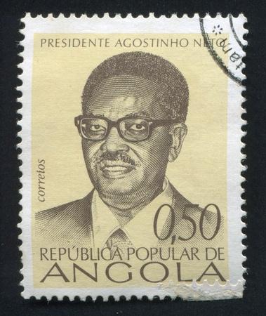 ANGOLA - CIRCA 1976: stamp printed by Angola, shows Agostinho Neto, circa 1976 Stock Photo - 20527602