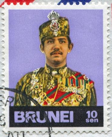 BRUNEI - CIRCA 1974: stamp printed by Brunei, shows Sultan Hassanal Bolkiah, circa 1974 Stock Photo - 20527490