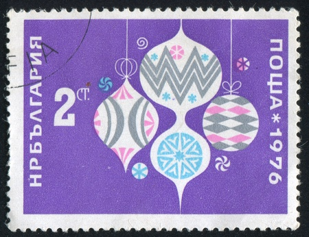 BULGARIA - CIRCA 1976: stamp printed by Bulgaria, shows Glass Ornaments, circa 1976 Stock Photo - 20527535