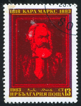 BULGARIA - CIRCA 1983: stamp printed by Bulgaria, shows Karl Marx, circa 1983