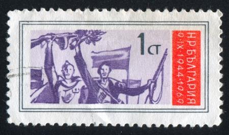 BULGARIA - CIRCA 1969: stamp printed by Bulgaria, shows Partisans, circa 1969