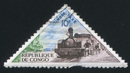 schokabsorber: CONGO - CIRCA 1961: stamp printed by Ukraine, shows Steam locomotive, circa 1961