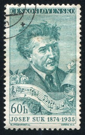 CZECHOSLOVAKIA - CIRCA 1957: stamp printed by Czechoslovakia, shows Josef Suk, circa 1957