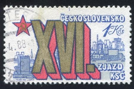 czechoslovakia: CZECHOSLOVAKIA - CIRCA 1981: stamp printed by Czechoslovakia, shows View of Bratislava, circa 1981
