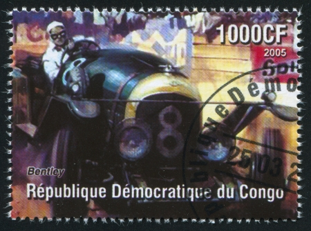 CONGO - CIRCA 2005: stamp printed by Congo, shows racing at Formula One, circa 2005 Stock Photo - 20527777