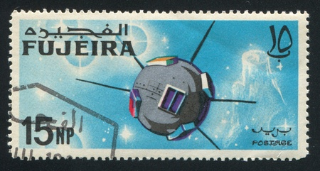 FUJEIRA - CIRCA 1963: stamp printed by Fujeira, shows satellite, circa 1963
