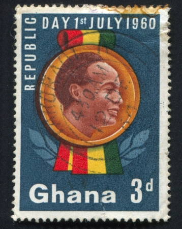 GHANA - CIRCA 1960: stamp printed by Ghana, shows Kwame Nkrumah, circa 1960 Stock Photo - 20527679