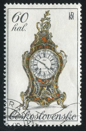 CZECHOSLOVAKIA - CIRCA 1979: stamp printed by Czechoslovakia, shows 18th century clock, circa 1979 Stock Photo - 21008028