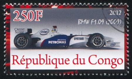 CONGO - CIRCA 2012: stamp printed by Congo, shows Ferrari, circa 2012