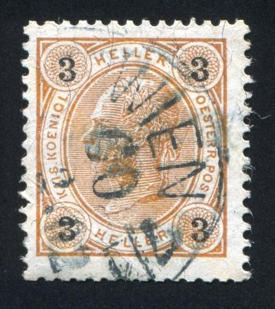 AUSTRIA - CIRCA 1907: stamp printed by Austria, shows Emperor Franz Joseph, circa 1907 Stock Photo - 21840817