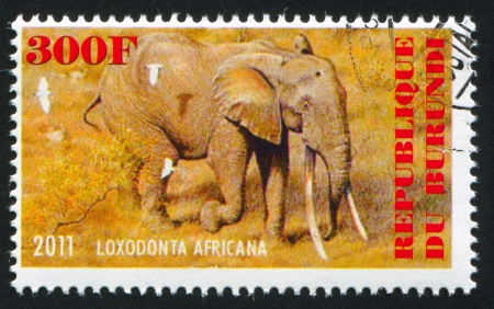 BURUNDI - CIRCA 2011: stamp printed by Burundi, shows Elephant, circa 2011
