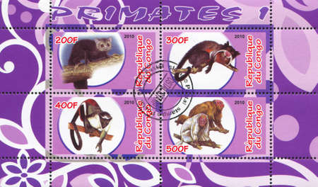 arboreal: CONGO - CIRCA 2010: stamp printed by Congo, shows animal, circa 2010 Editorial