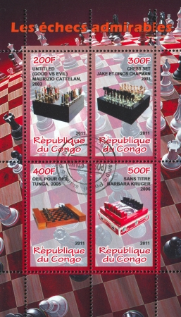 CONGO - CIRCA 2011: stamp printed by Congo, shows Chess, circa 2011