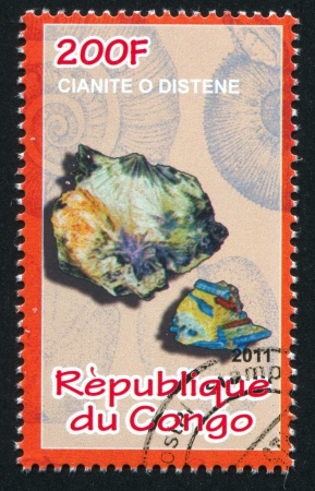 CONGO - CIRCA 2011: stamp printed by Congo, shows Kyanite, circa 2011 Stock Photo - 22330562