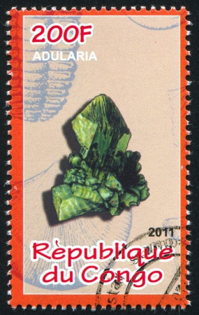 CONGO - CIRCA 2011: stamp printed by Congo, shows Adularia, circa 2011 Stock Photo - 22330566