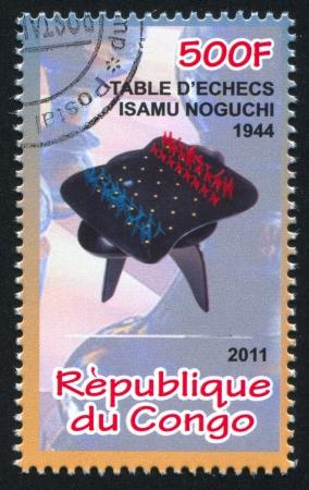 CONGO - CIRCA 2011: stamp printed by Congo, shows Chess, circa 2011