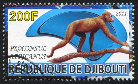 djibouti: DJIBOUTI - CIRCA 2011: stamp printed by Djibouti, shows prehistoric Animals, circa 2011