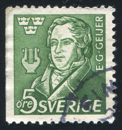 gustaf: SWEDEN - CIRCA 1947: stamp printed by Sweden, shows Erik Gustaf Geijer, circa 1947