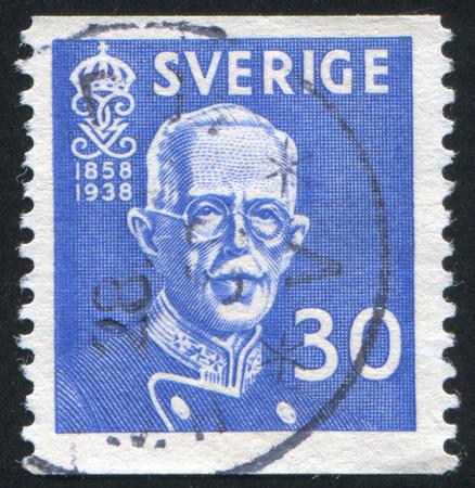 gustaf: SWEDEN - CIRCA 1938: stamp printed by Sweden, shows Gustaf V, circa 1938