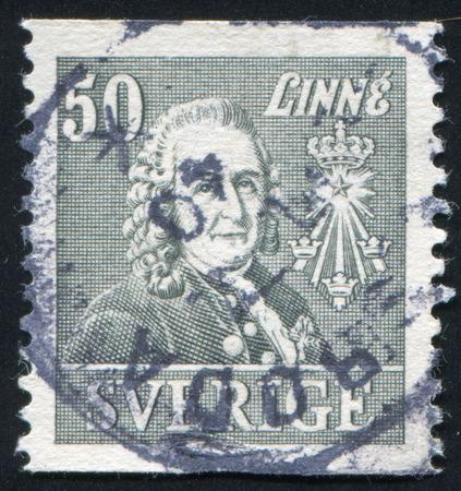 boffin: SWEDEN - CIRCA 1939: stamp printed by Sweden, shows Carl von Linne, circa 1939 Editorial