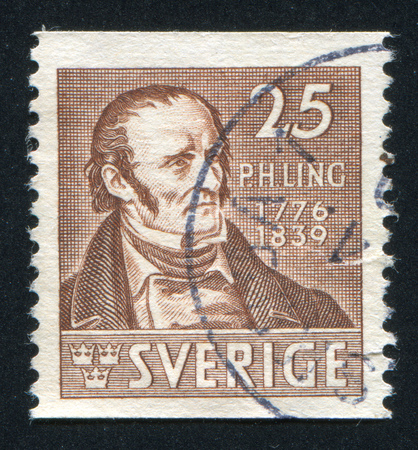 boffin: SWEDEN - CIRCA 1939: stamp printed by Sweden, shows Per Henrik Ling, circa 1939