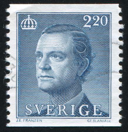 karl: SWEDEN - CIRCA 1989: stamp printed by Sweden, shows Karl XVI Gustaf, circa 1989