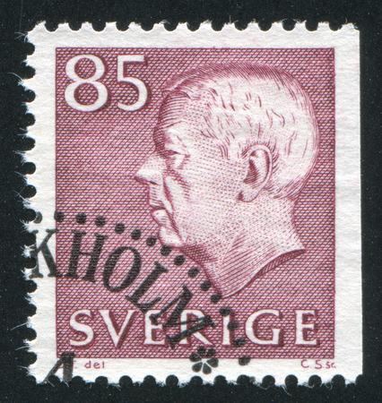 SWEDEN - CIRCA 1961: stamp printed by Sweden, shows Gustaf VI Adolf, circa 1961.