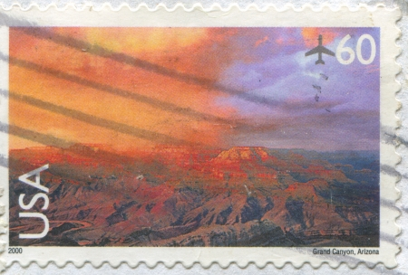 UNITED STATES - CIRCA 2000: stamp printed by United States, shows Grand canyon, circa 2000