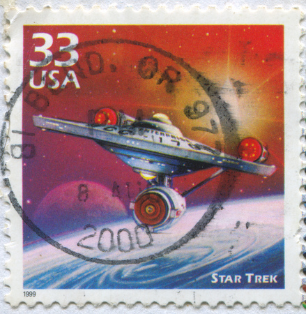 UNITED STATES - CIRCA 1999: stamp printed by United States, shows Spaceship, circa 1999