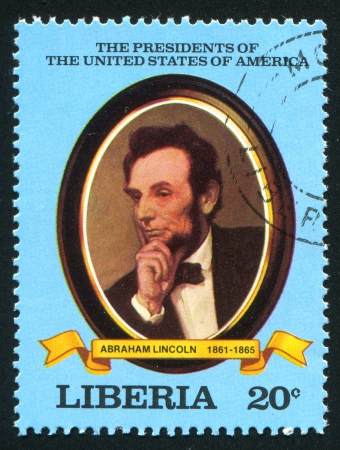 LIBERIA - CIRCA 1981: stamp printed by Liberia, shows President of the United States Abraham Lincoln, circa 1981
