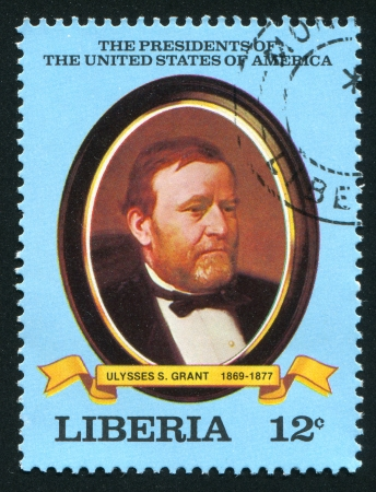 ulysses s  grant: LIBERIA - CIRCA 1981: stamp printed by Liberia, shows President of the United States Ulysses S. Grant, circa 1981 Editorial
